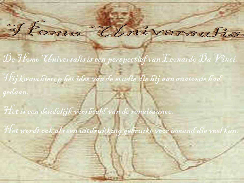Homo Universalis. De Homo Universalis is een perspectief van Leonardo Da Vinci.