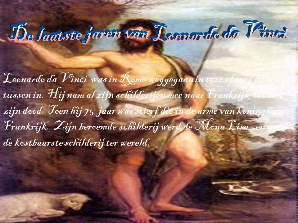 De laatste jaren van Loenardo da Vinci