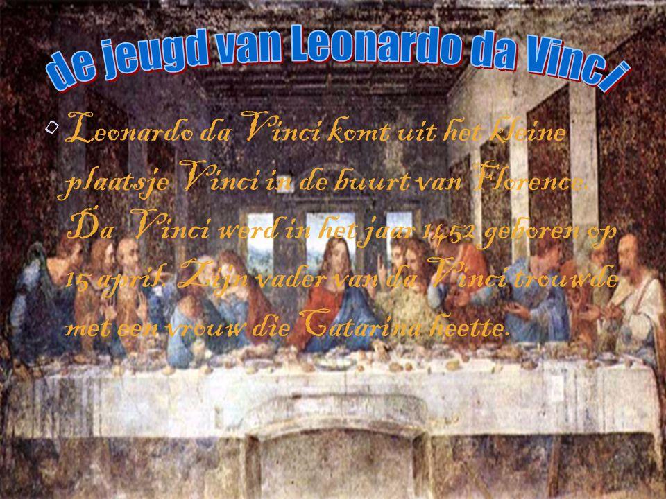 de jeugd van Leonardo da Vinci