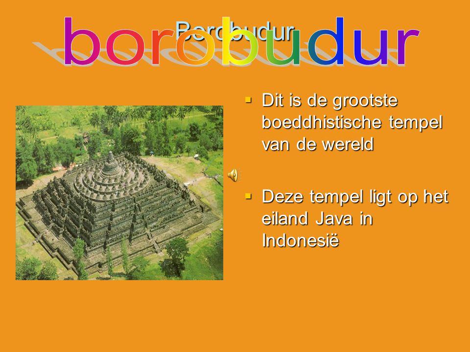 Borobudur borobudur. Dit is de grootste boeddhistische tempel van de wereld.