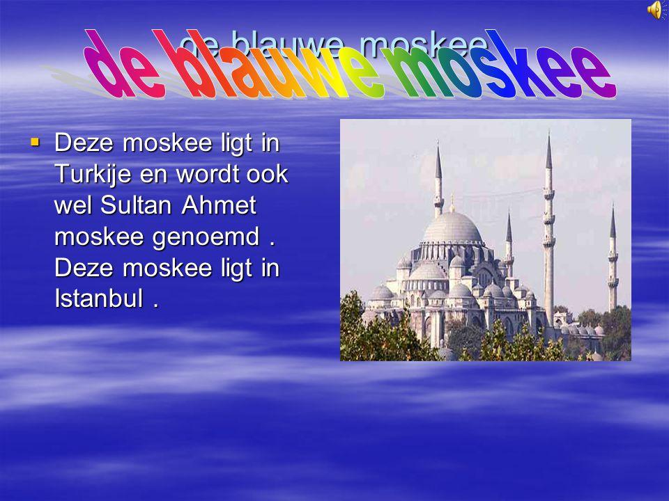 de blauwe moskee de blauwe moskee
