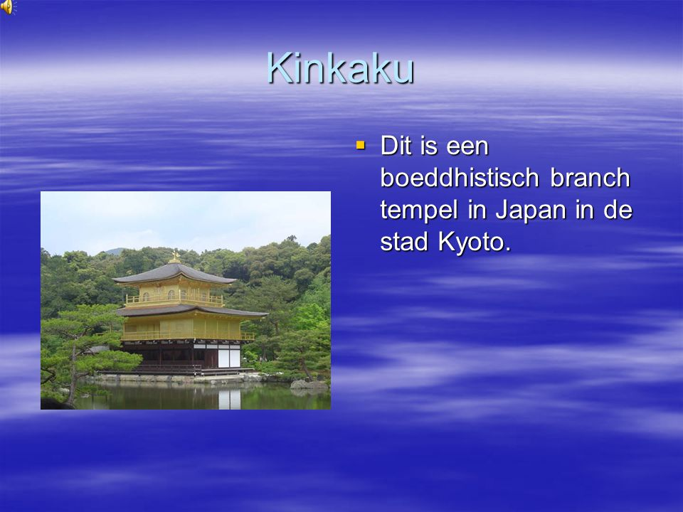 Kinkaku Dit is een boeddhistisch branch tempel in Japan in de stad Kyoto.