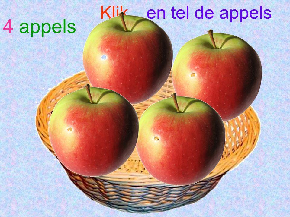 Klik…en tel de appels 4 appels