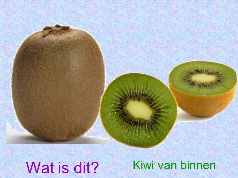 Wat is dit Kiwi van binnen