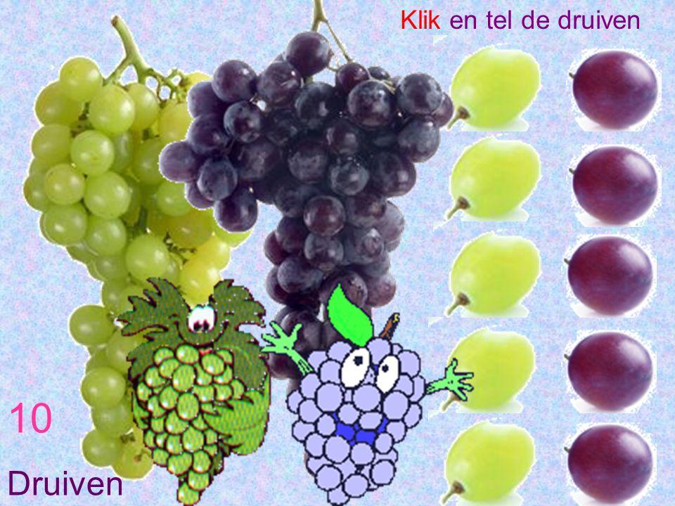 Klik en tel de druiven 10 Druiven