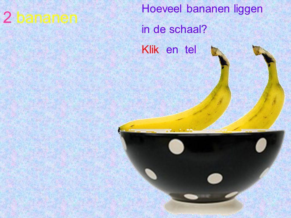 Hoeveel bananen liggen