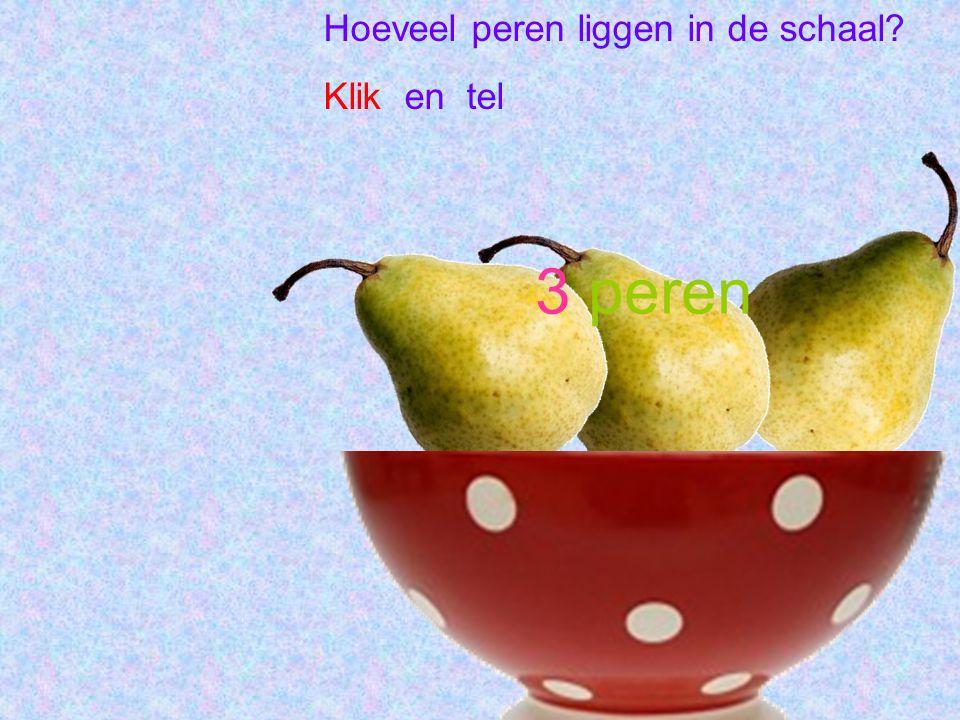 Hoeveel peren liggen in de schaal