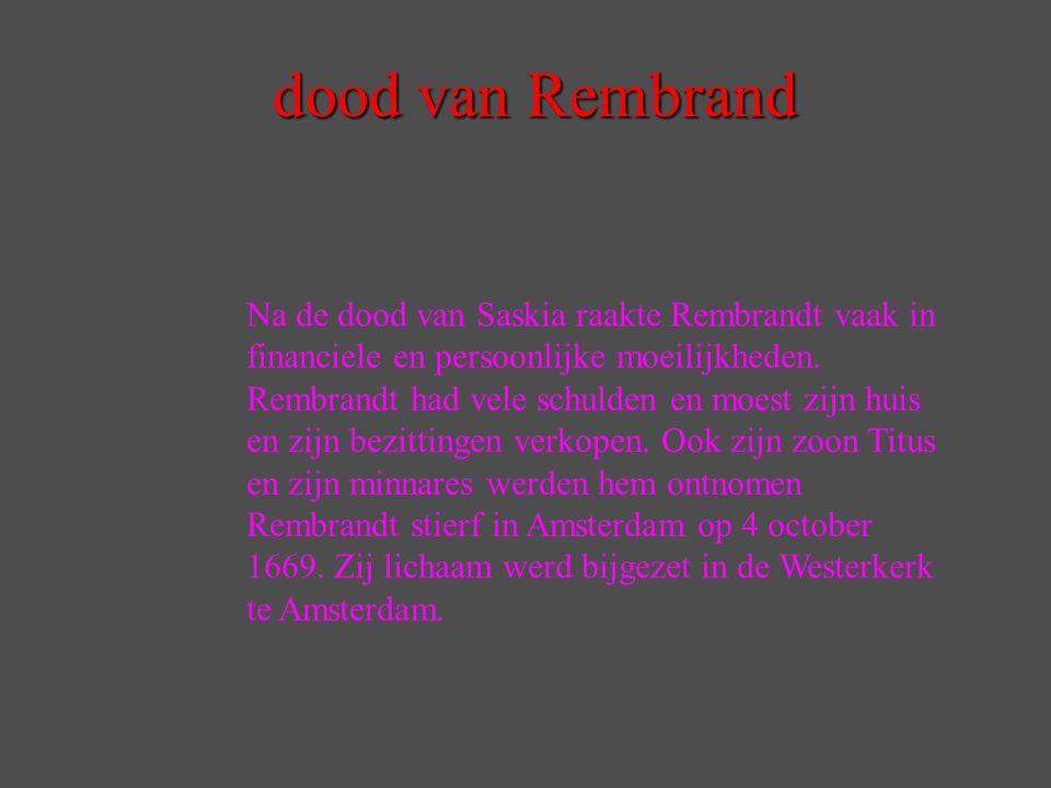 dood van Rembrand