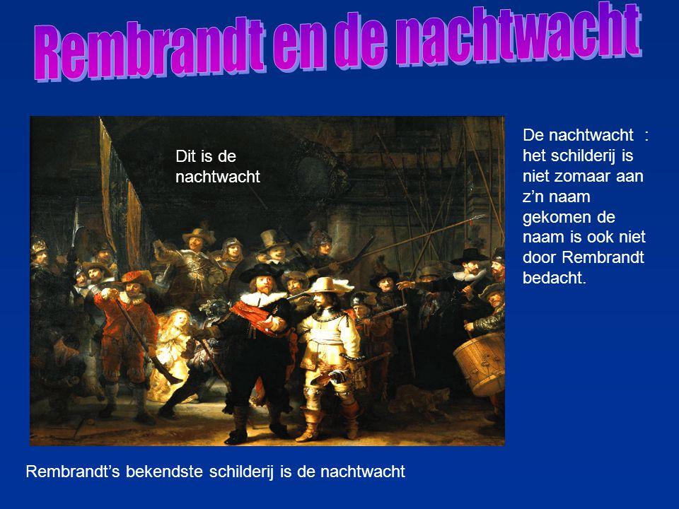 Rembrandt en de nachtwacht