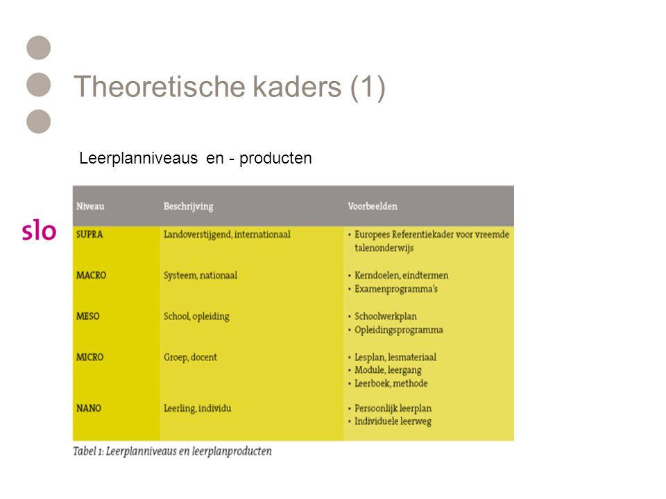Theoretische kaders (1)