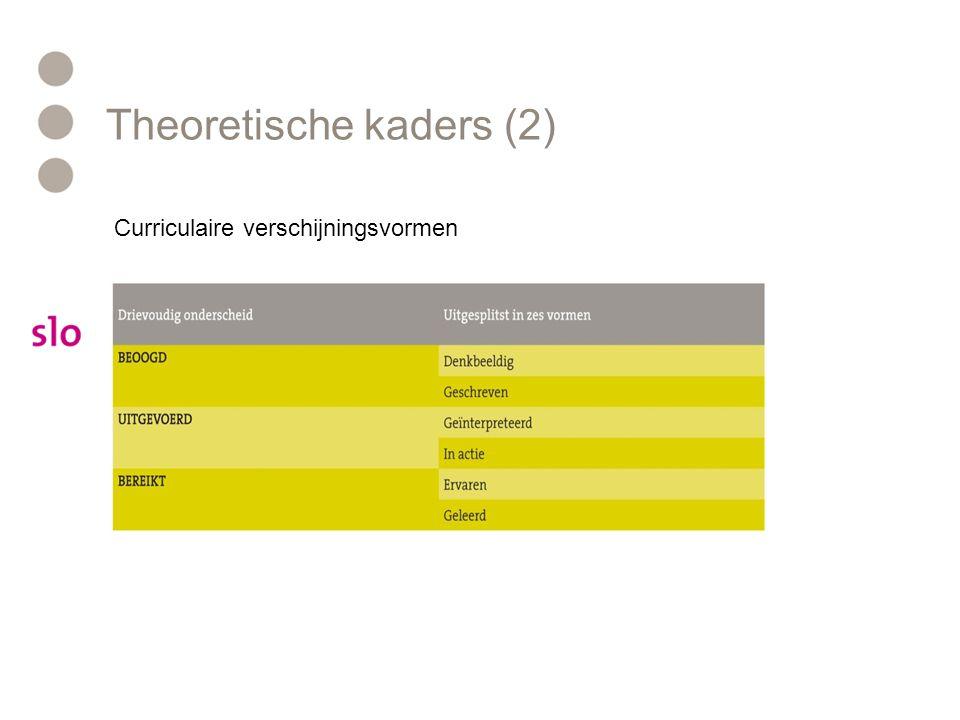 Theoretische kaders (2)