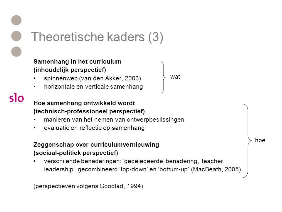 Theoretische kaders (3)