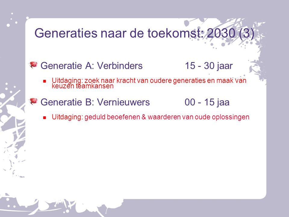 Generaties naar de toekomst: 2030 (3)