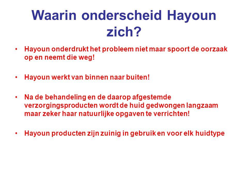 Waarin onderscheid Hayoun zich