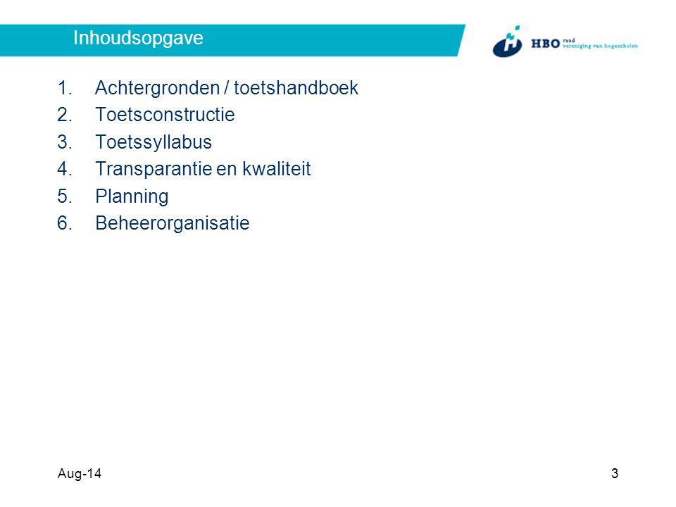 Achtergronden / toetshandboek Toetsconstructie Toetssyllabus