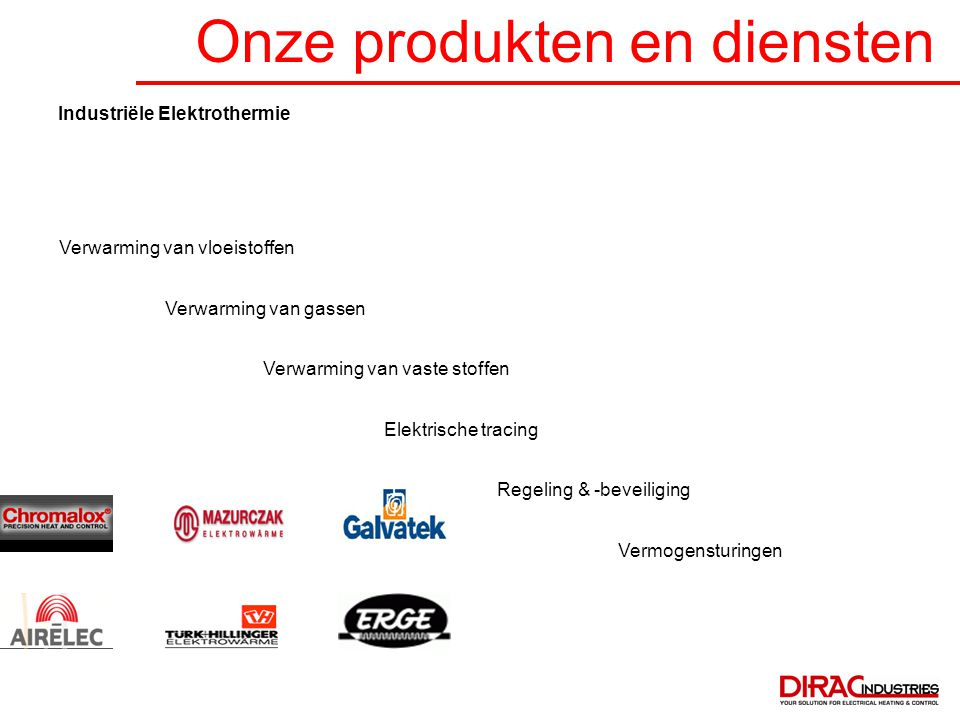 Onze produkten en diensten