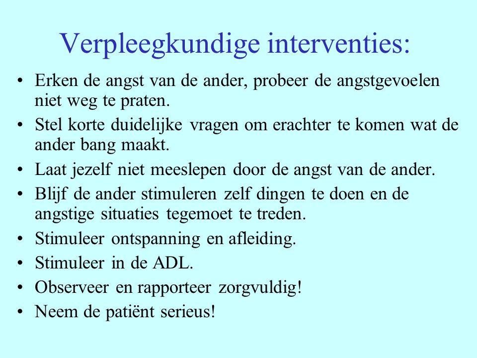 Verpleegkundige interventies: