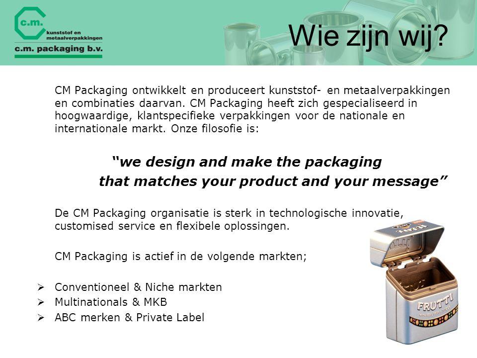 Wie zijn wij we design and make the packaging