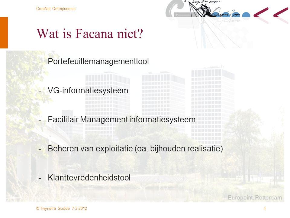 Wat is Facana niet - Portefeuillemanagementtool
