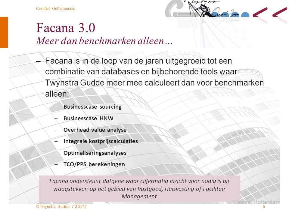 Facana 3.0 Meer dan benchmarken alleen…