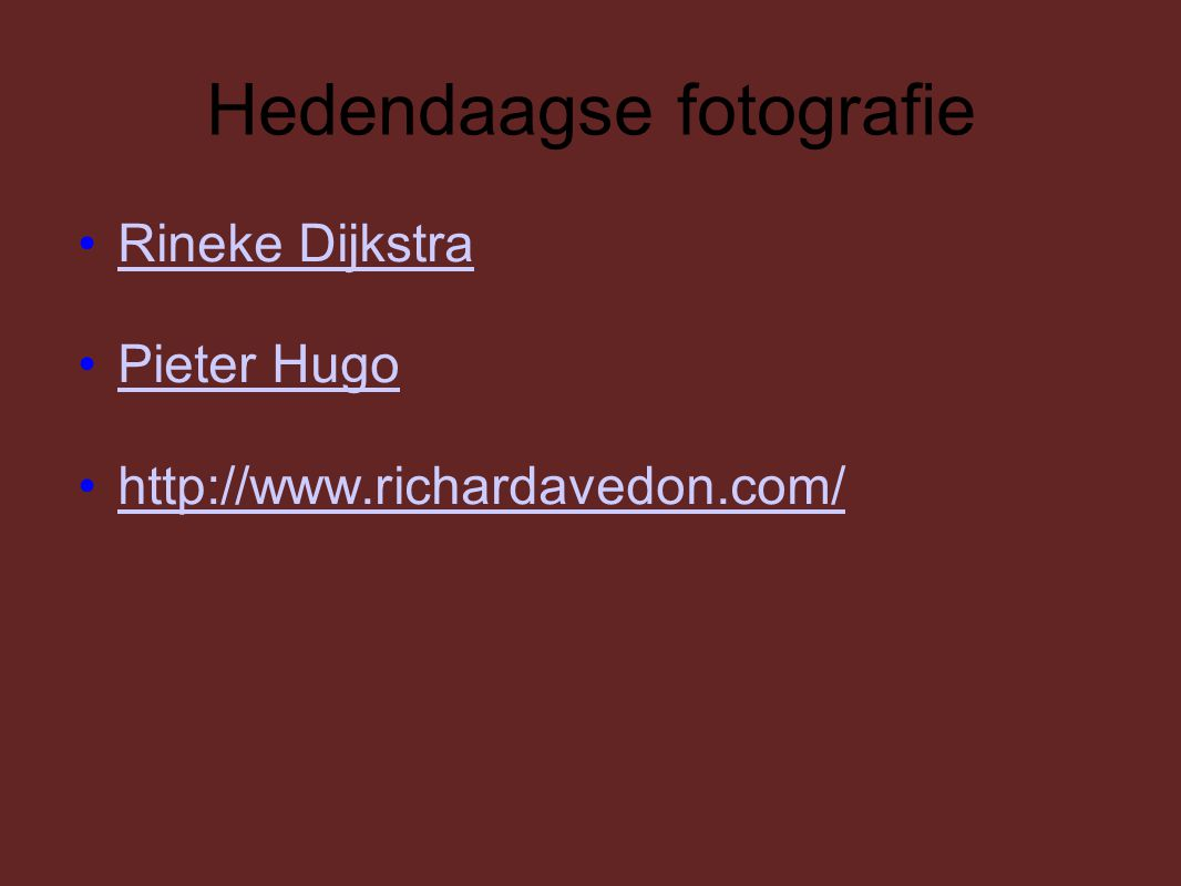 Hedendaagse fotografie