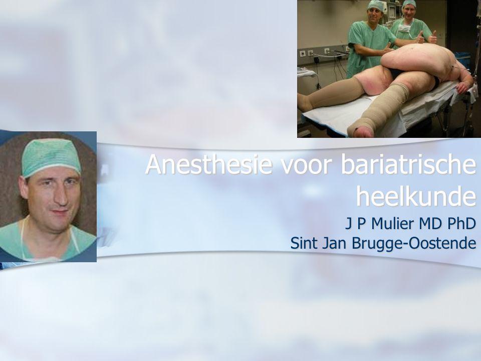 Anesthesie voor bariatrische heelkunde