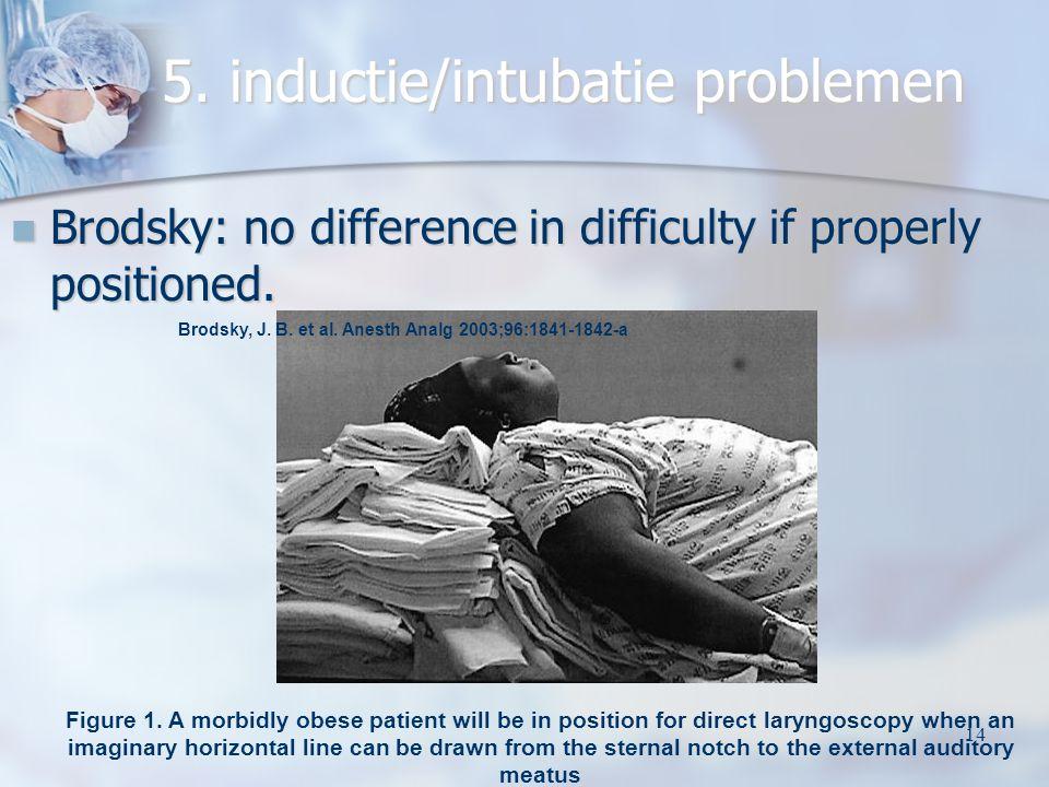 5. inductie/intubatie problemen