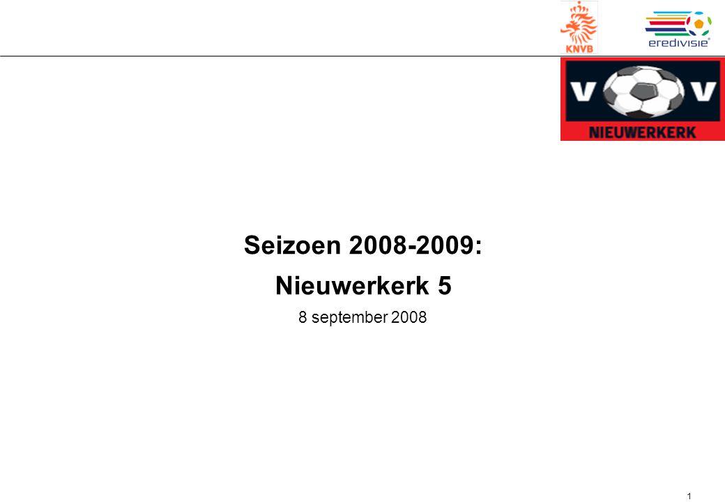 Seizoen 2008-2009: Nieuwerkerk 5 8 september 2008