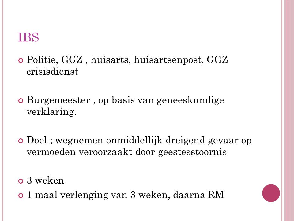 IBS Politie, GGZ , huisarts, huisartsenpost, GGZ crisisdienst