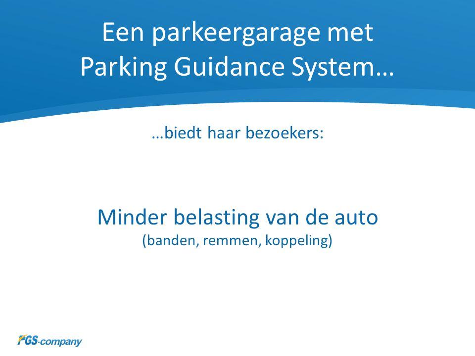 Een parkeergarage met Parking Guidance System…