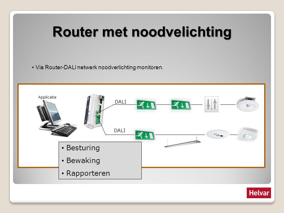 Router met noodvelichting