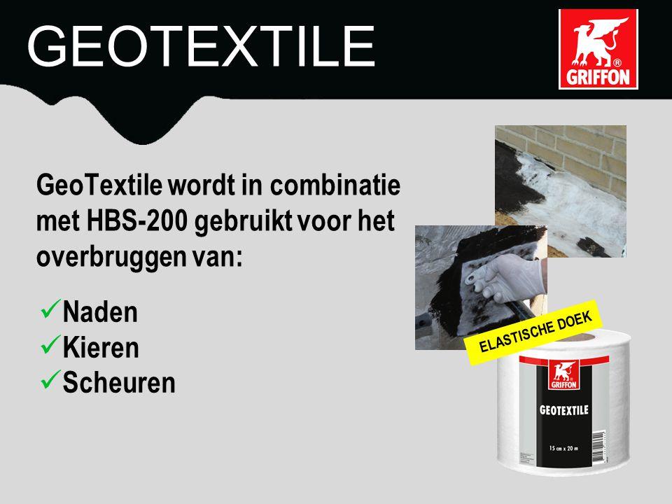 GEOTEXTILE GeoTextile wordt in combinatie met HBS-200 gebruikt voor het overbruggen van: Naden Kieren.