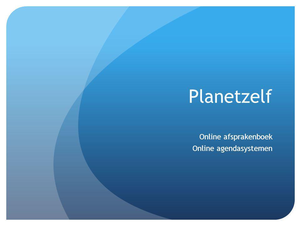 Online afsprakenboek Online agendasystemen