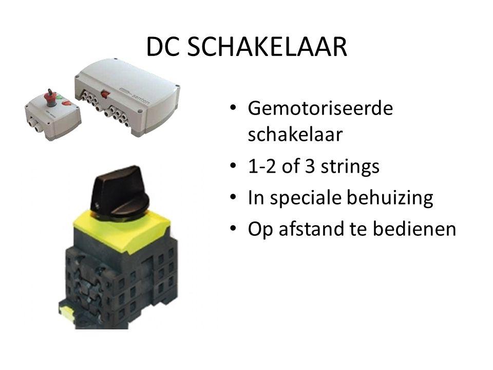 DC SCHAKELAAR Gemotoriseerde schakelaar 1-2 of 3 strings