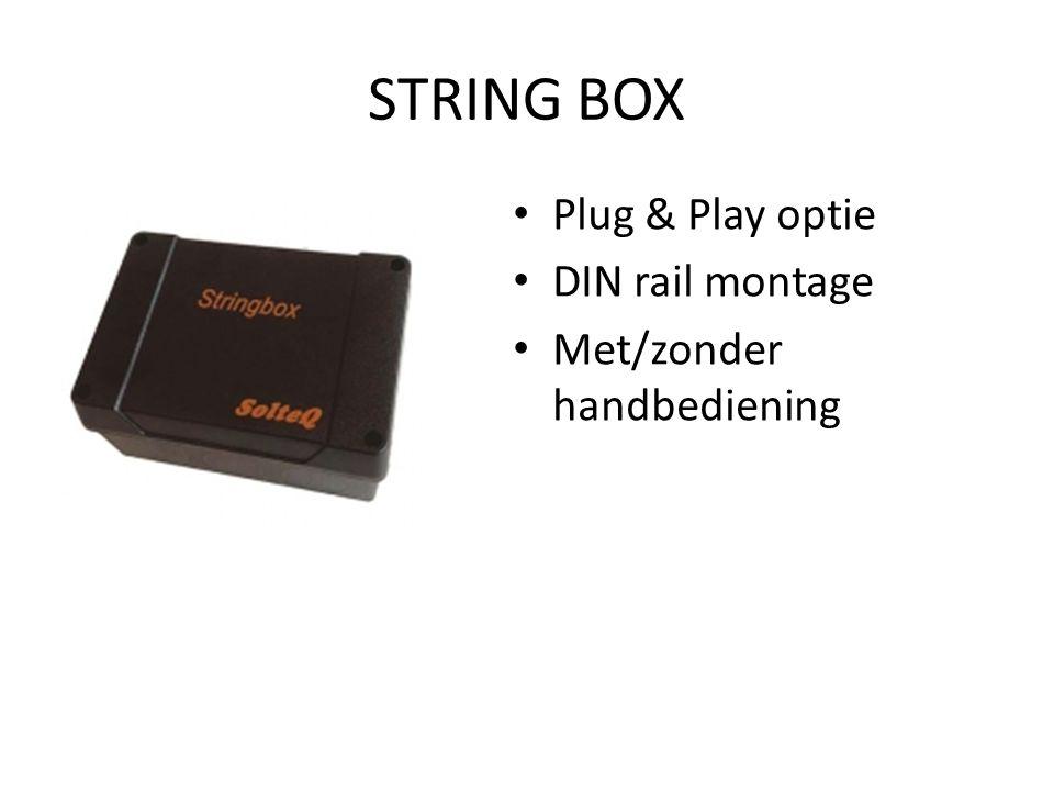 STRING BOX Plug & Play optie DIN rail montage Met/zonder handbediening