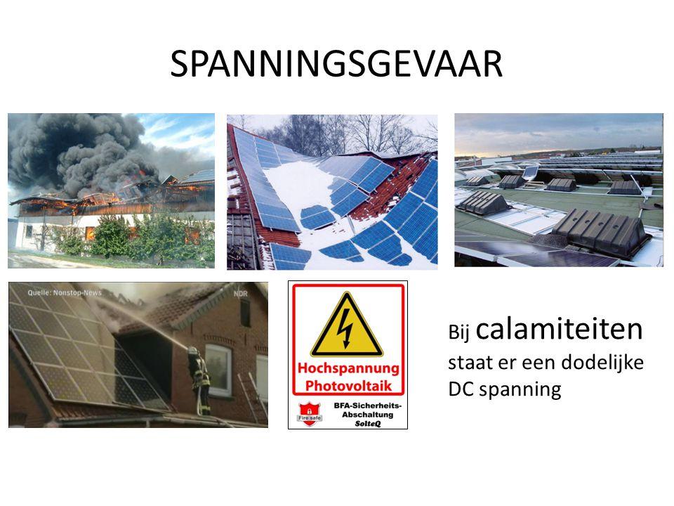 SPANNINGSGEVAAR Bij calamiteiten staat er een dodelijke DC spanning
