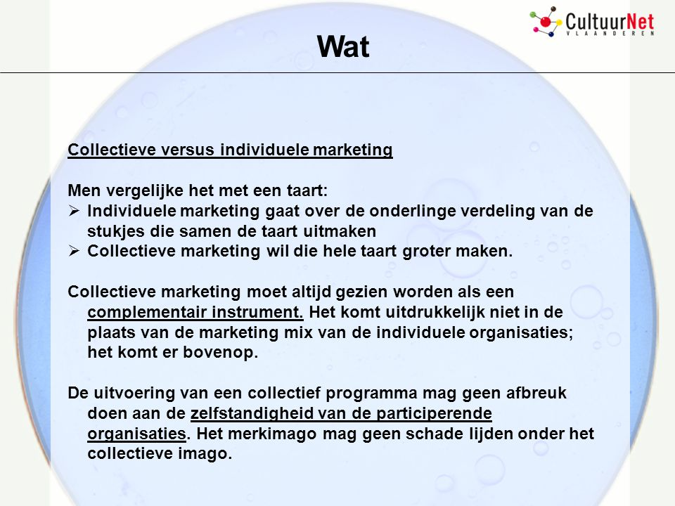 Wat Collectieve versus individuele marketing