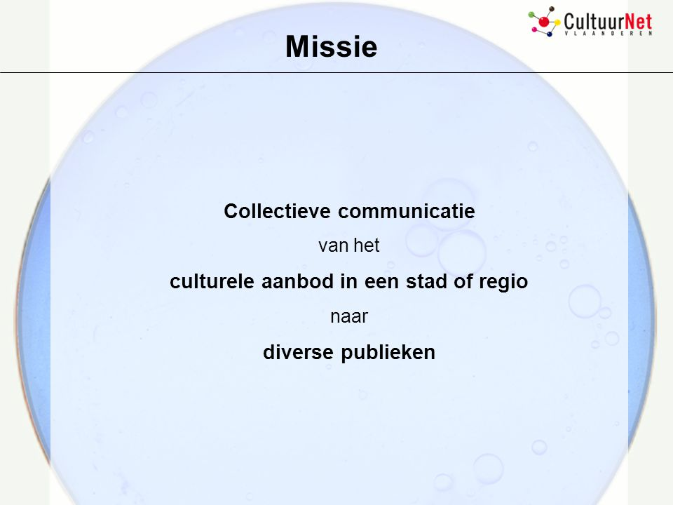 Collectieve communicatie culturele aanbod in een stad of regio