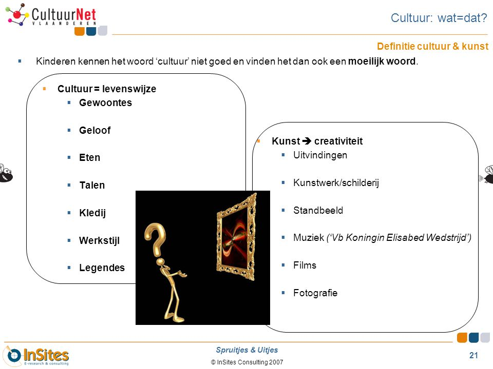 Cultuur: wat=dat Definitie cultuur & kunst