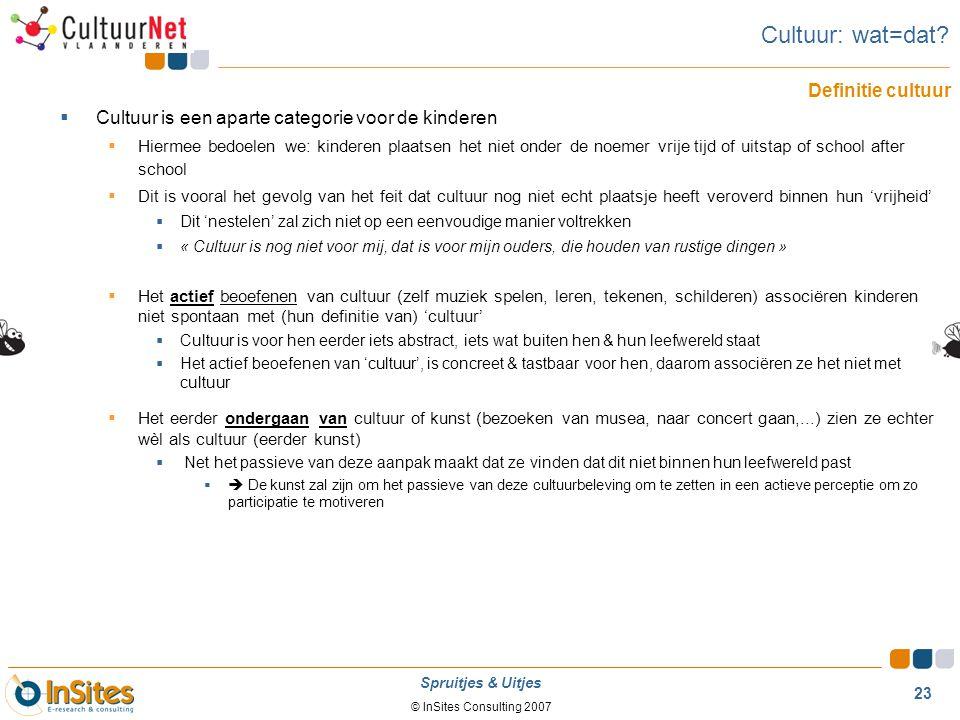 Cultuur: wat=dat Definitie cultuur