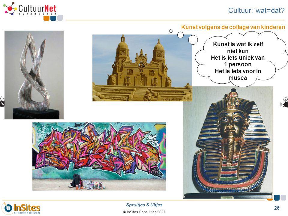 Cultuur: wat=dat Kunst volgens de collage van kinderen