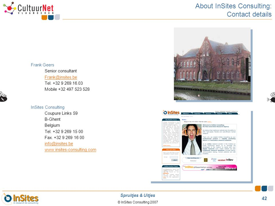 About InSites Consulting: Contact details