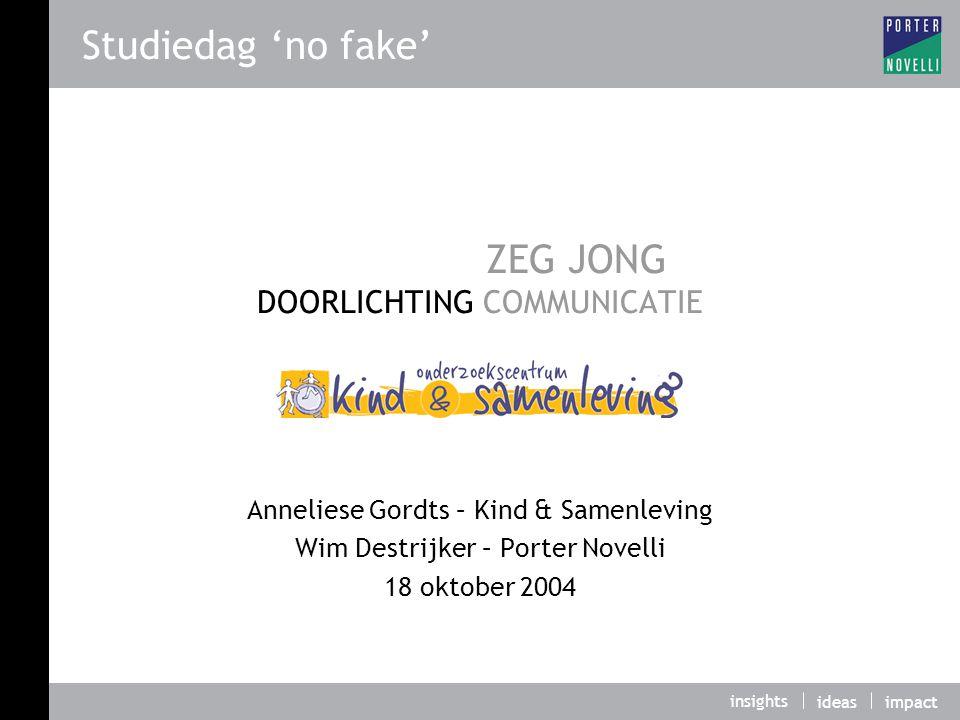 ZEG JONG DOORLICHTING COMMUNICATIE