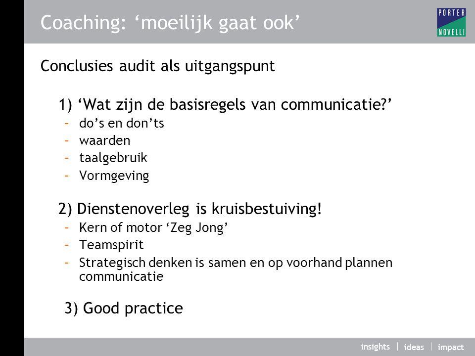 Coaching: 'moeilijk gaat ook'