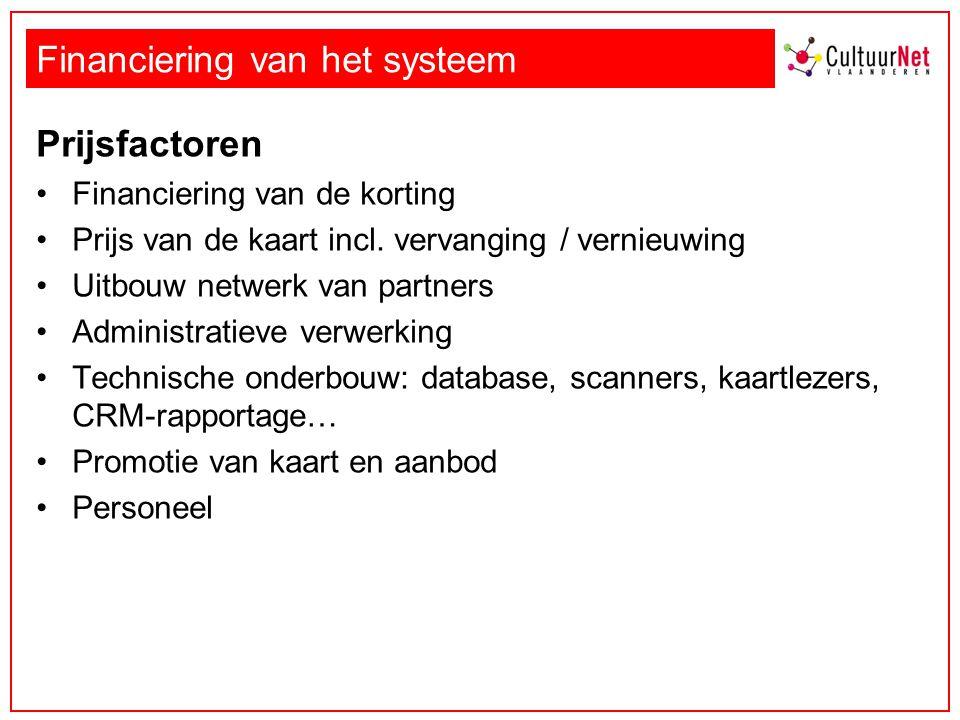 Financiering van het systeem