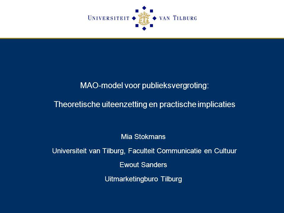 MAO-model voor publieksvergroting: Theoretische uiteenzetting en practische implicaties