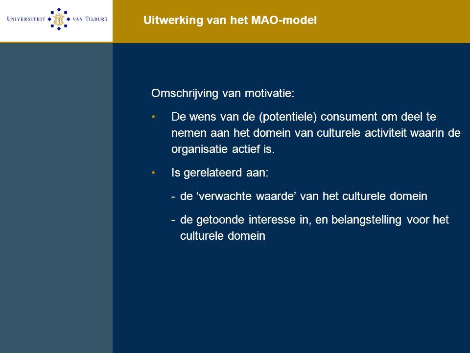 Uitwerking van het MAO-model