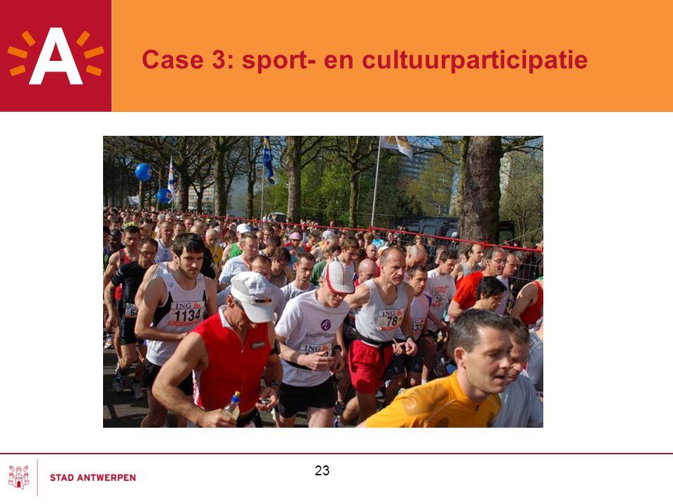 Case 3: sport- en cultuurparticipatie