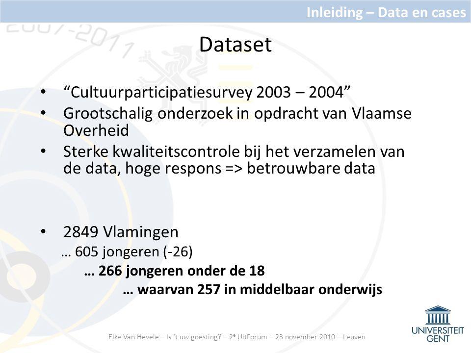 Dataset Cultuurparticipatiesurvey 2003 – 2004