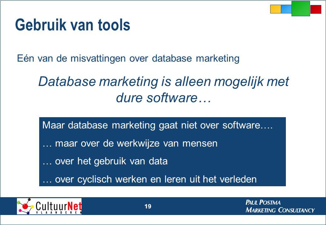 Database marketing is alleen mogelijk met dure software…